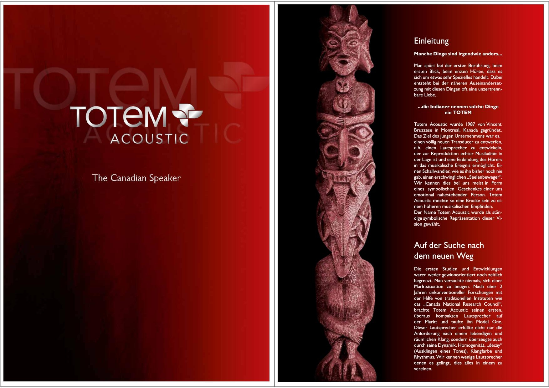 Totem Acoustic Katalog S. 1+2