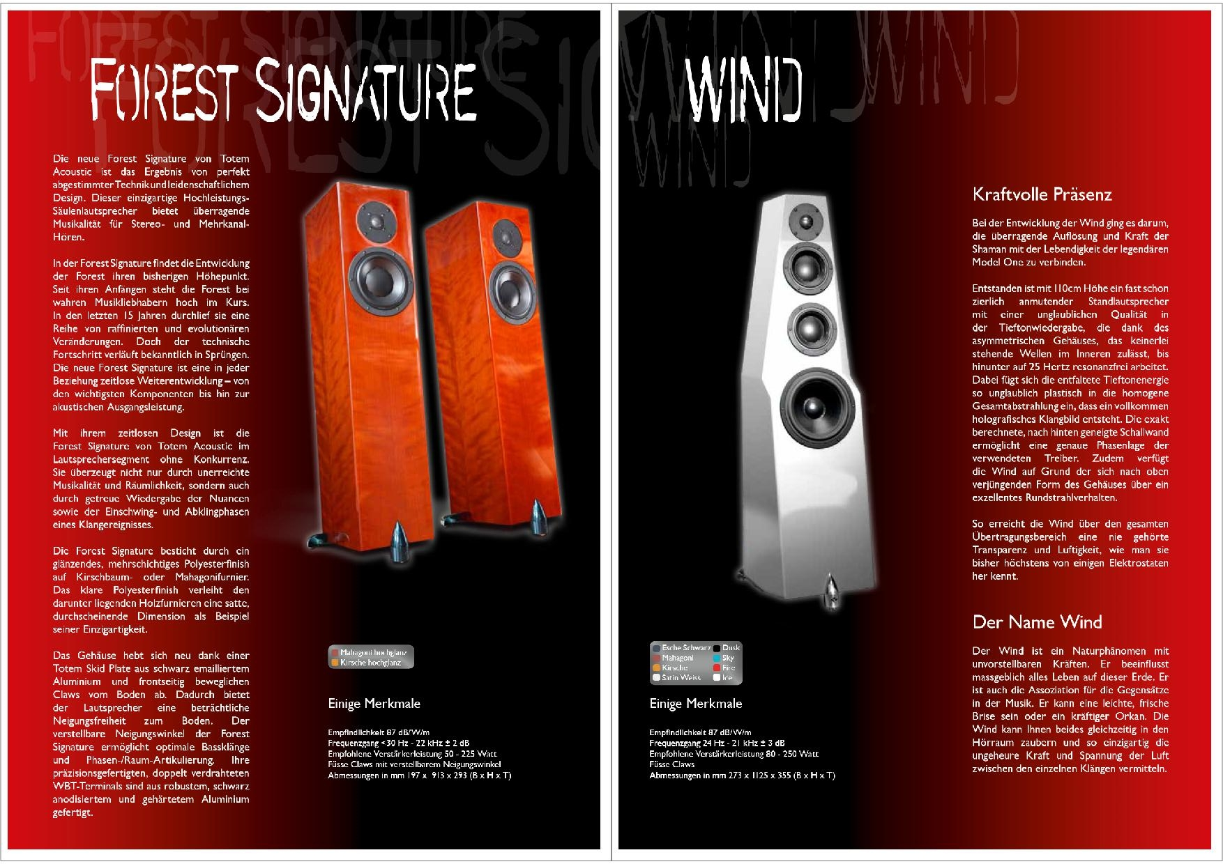 Totem Acoustic Katalog S. 13+14
