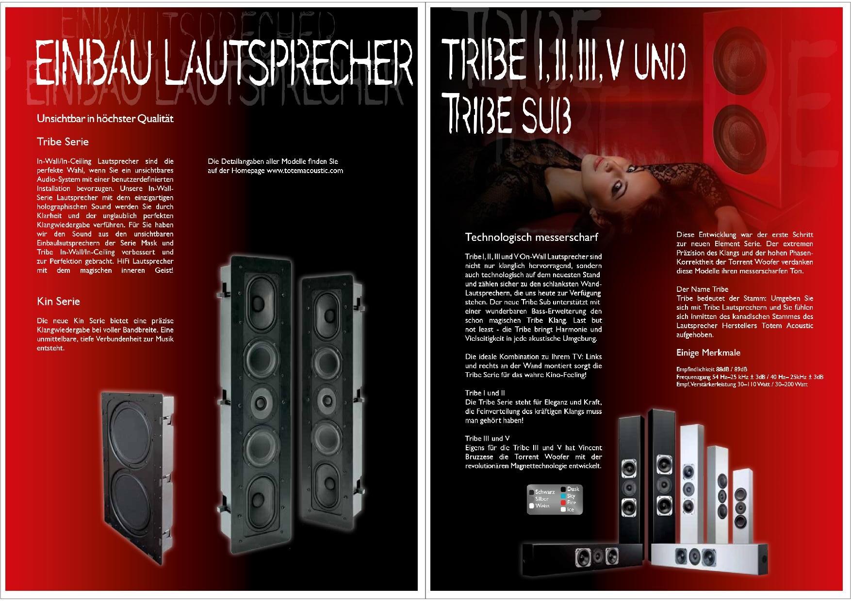 Totem Acoustic Katalog S. 21+22