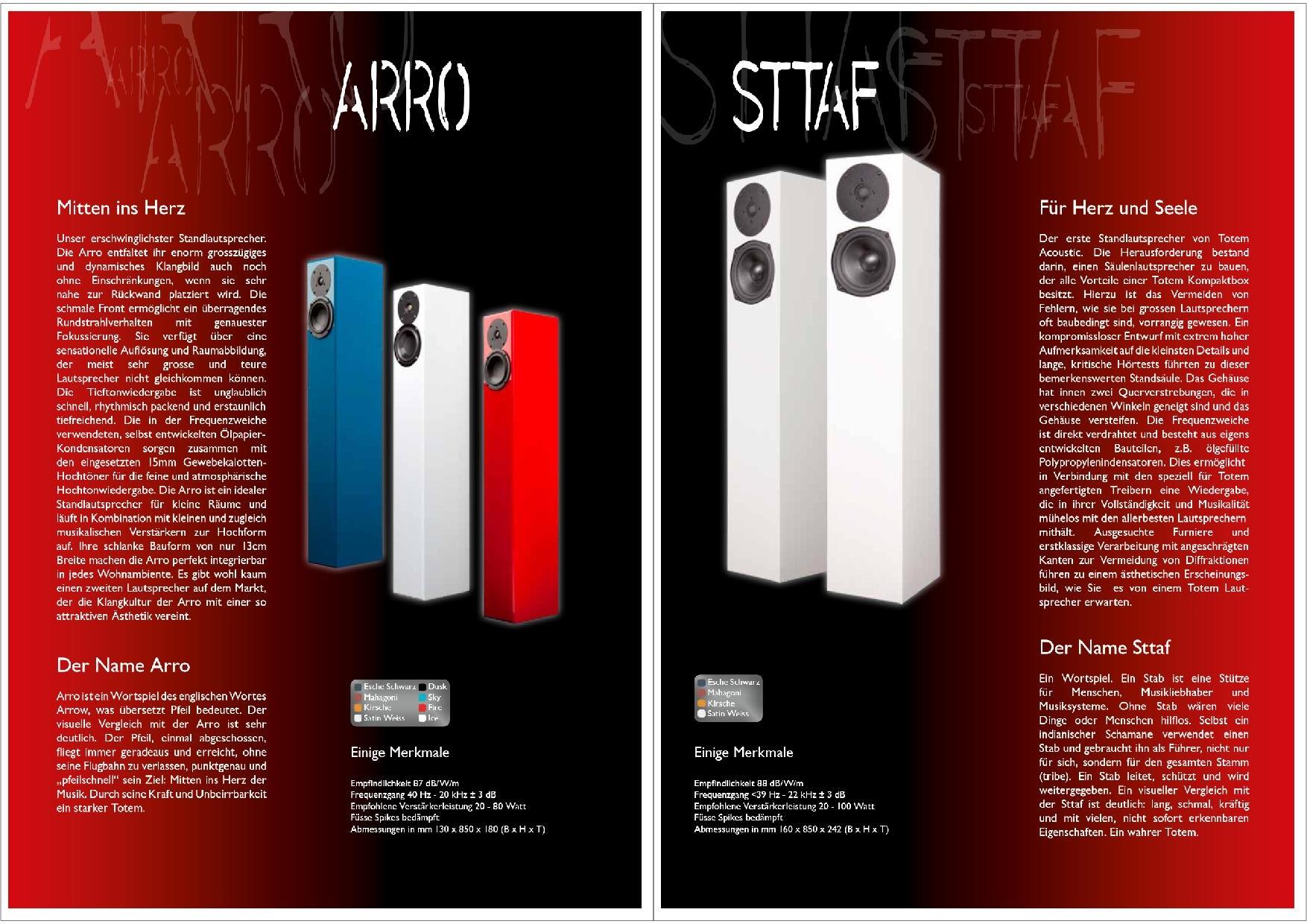 Totem Acoustic Katalog S. 9+10