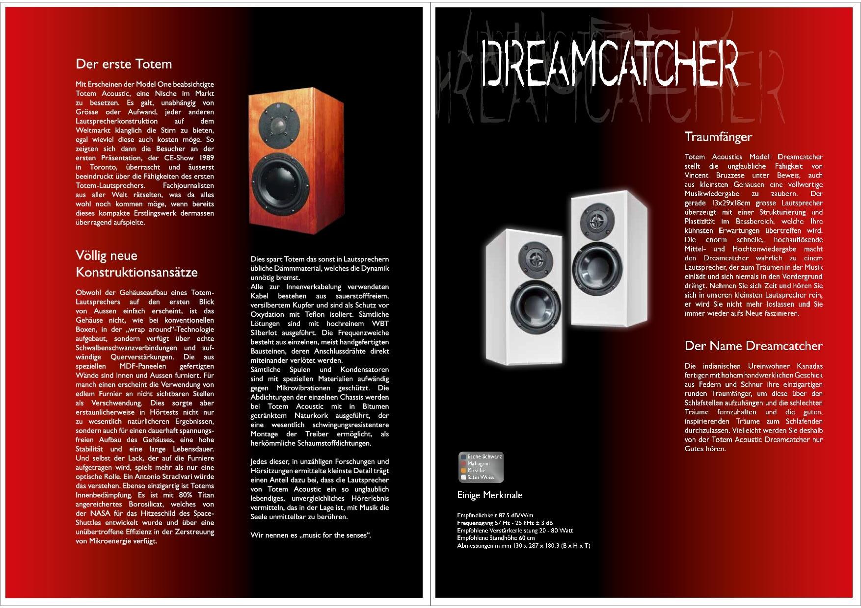 Totem Acoustic Katalog S. 3+4