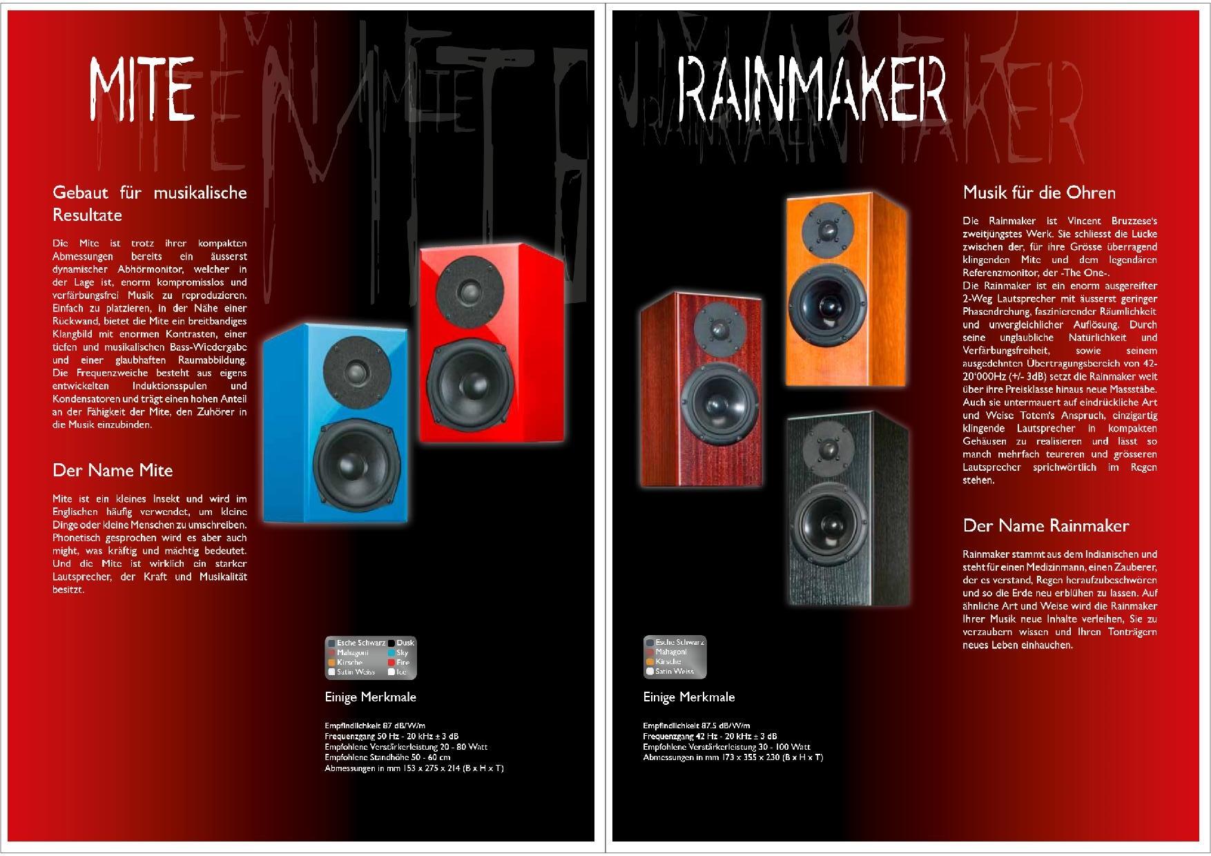 Totem Acoustic Katalog S. 5+6