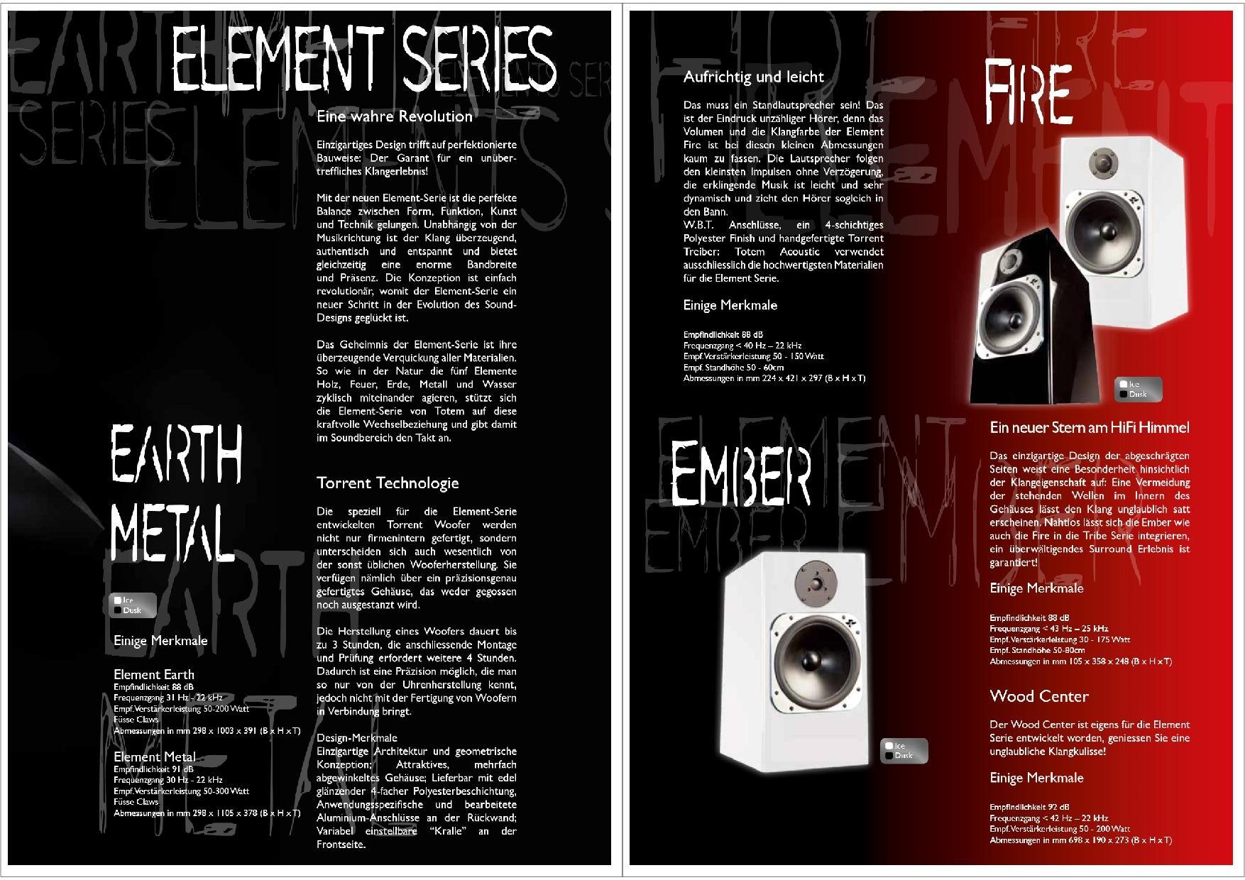 Totem Acoustic Katalog S. 19+20