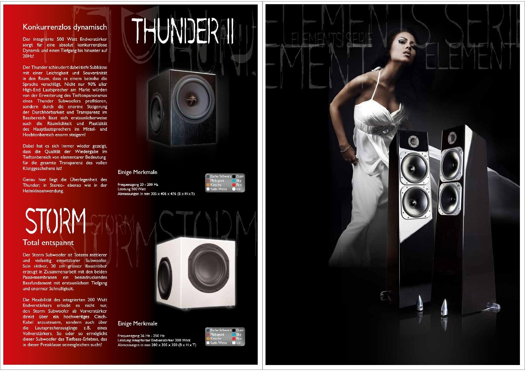 Totem Acoustic Katalog S. 17+18