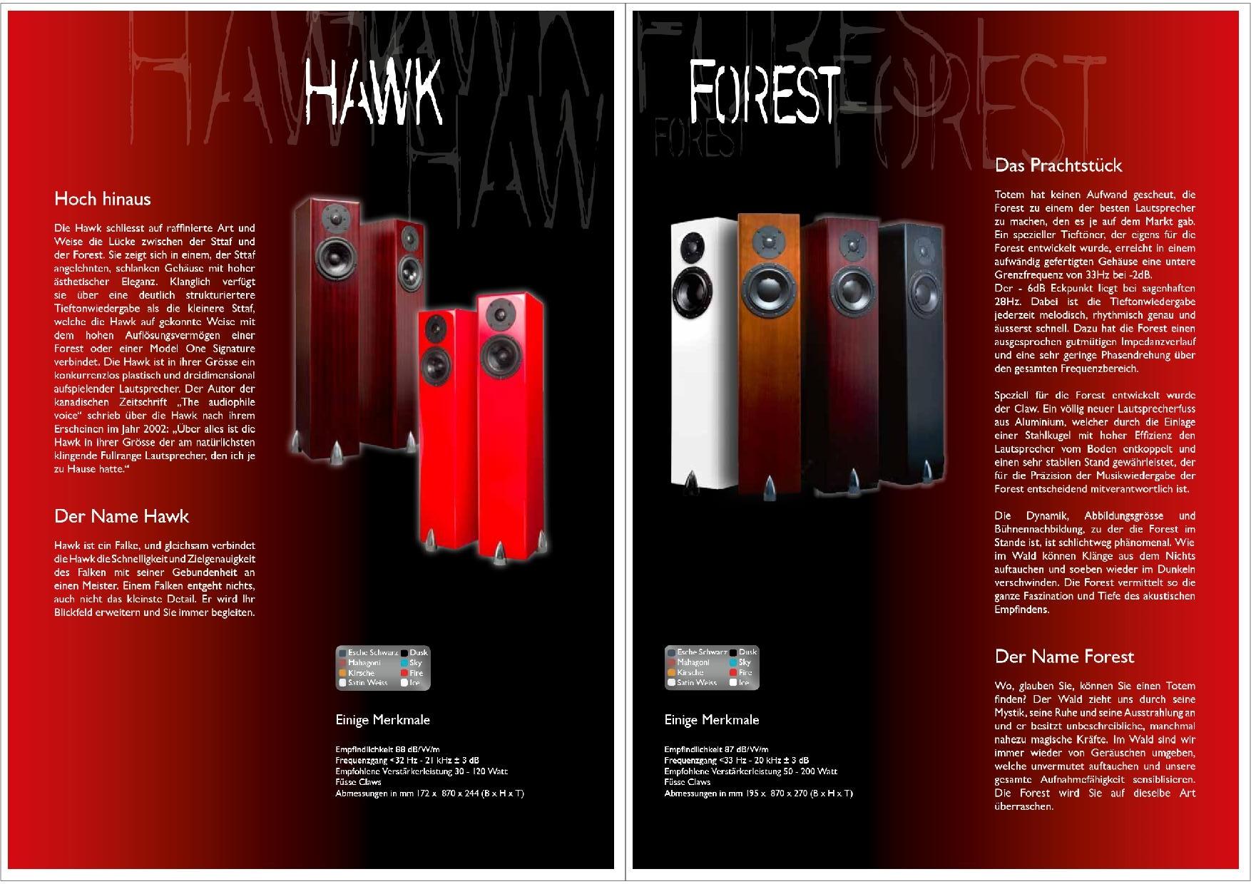 Totem Acoustic Katalog S. 11+12