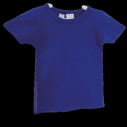 vetement occasion enfant. Vetements enfants pas chers. T-shirt à manches courtes en maille côtelée de couleur bleu Absorba pour bébé garçon de 3 ans à tout petit prix