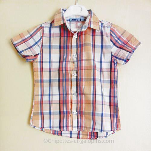 vetements occasion enfant. Chemise manches courtes pas chère garçon 4 ans