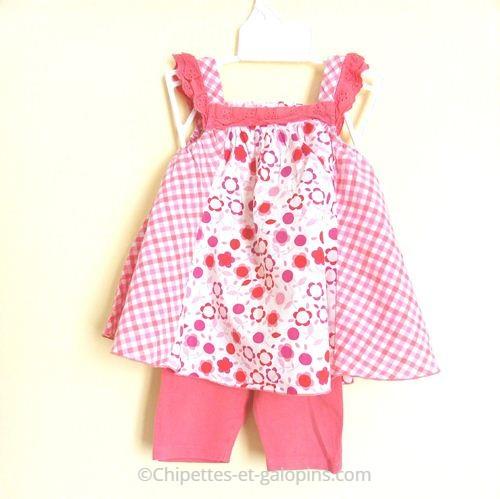vetements bébé pas cher. Robe et legging Vert Baudet pas cher pour bébé fille de 12 mois
