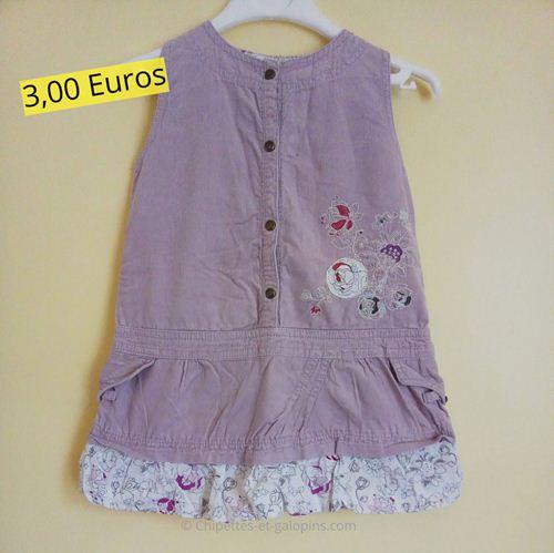 vêtements d'occasion pour bébé fille. Robe sans manches en velours pas chère.
