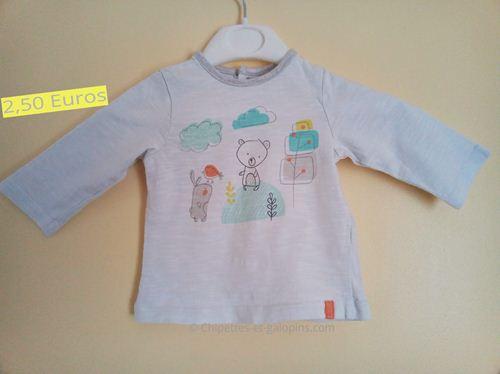 Vêtements bébé d'occasion. T-shirt manches longues orchestra garçon 3 mois