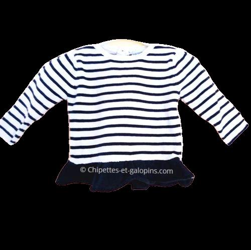 vetement occasion enfants. Vetements bébé pas chers. pull marin Vert Baudet bébé fille 12 mois