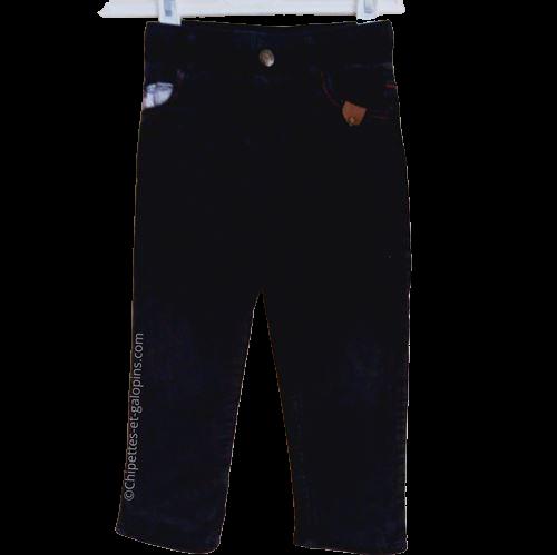 vetement occasion enfant. Vetements enfants pas chers. Pantalon en velours côtelé doublé pour bébé garçon de 2 ans à petit prix.