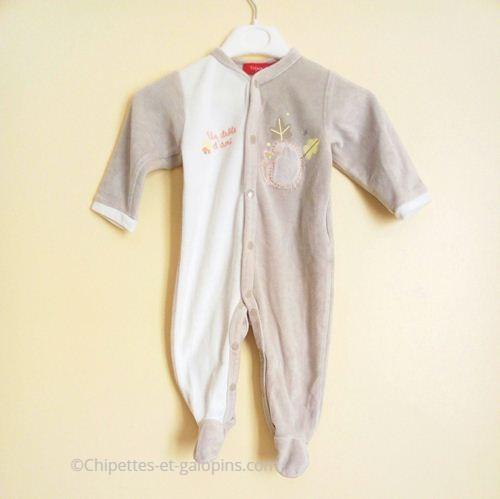 vetement bébé occasion. Pyjama velours pas cher pour bébé garçon 6 mois