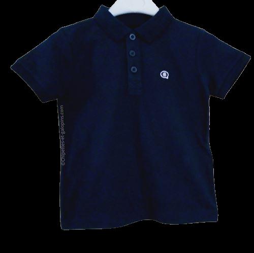 vetement occasion enfant. Vetements enfants pas chers. Polo bleu marine à manches courtes pour garçon de 3 ans à petits prix