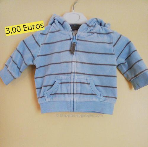 vetements bébé occasion. Veste en velours bébé garçon 3 mois pas cher