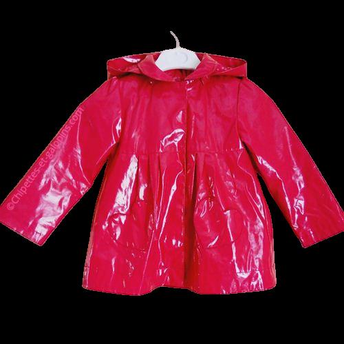 vetements occasion enfants. vetements fille pas chers. Manteau ciré DPAM de couleur rose pour fille 4 ans
