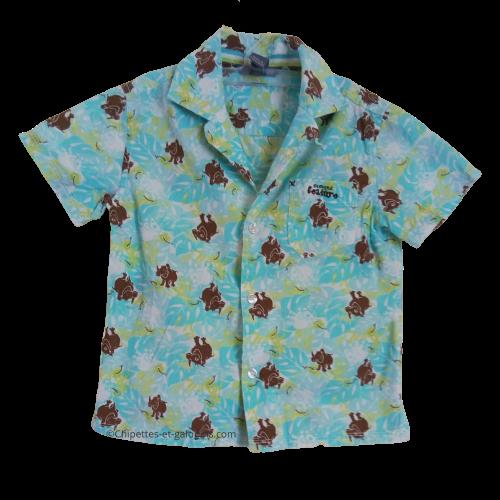 vetements occasion bébé. Vetements bébé garçon pas chers. Chemisette à manches courtes avec motifs rhinocéros H&M pour bébé garçon de 2 ans. Petit prix