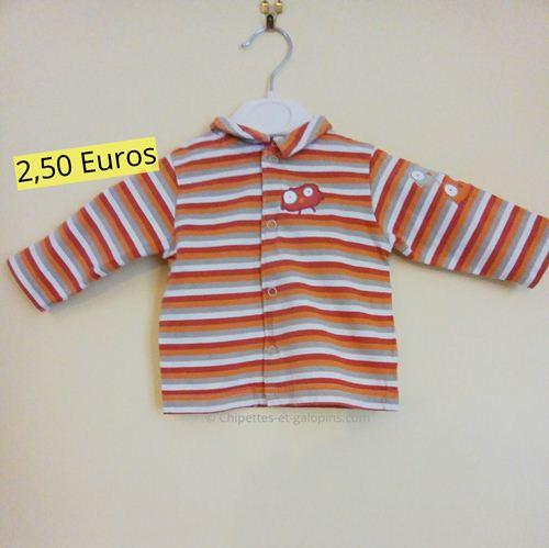 vêtements bébé occasion. Polo Orchestra pas cher 3 mois