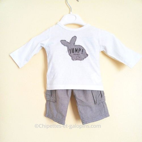 vetements bébé occasion. Ensemble MEXX pantalon bébé garçon 3 mois