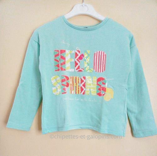 vetements enfant d'occasion. Sweat-shirt pas cher 8 ans. Sweat-shirt couleurs vitaminées pour fille 8 ans