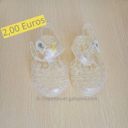 chaussures bébé d'occasion. Méduses transparentes en taille 21