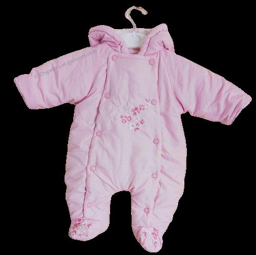 vetements bébé d'occasion. vetements bébé pas chers. vetements bébé seconde main. Combi-pilote rose clair 1 mois à petit prix