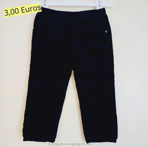 vetements enfants d'occasion. Pantalon velours bleu marine pas cher pour garçon de 2 ans