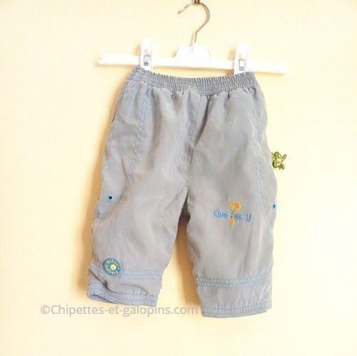 vetements bebe occasion. Pantalon doublé polaire bébé garçon 6 mois pas cher