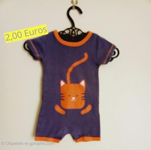 Vêtements d'occasion pour bébé garçon. Barboteuse Kiabi 3 mois pas chère