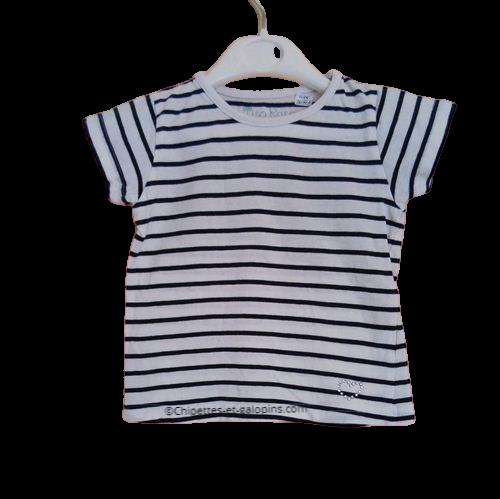 vetements d'occasion pour enfants. Vêtements enfants pas chers. T-shirt marin à manches courtes fille 3 ans