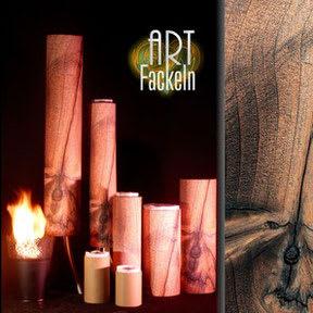 ART-Fackel, Gartenfackel, Dekor_Wurzelholz_#06