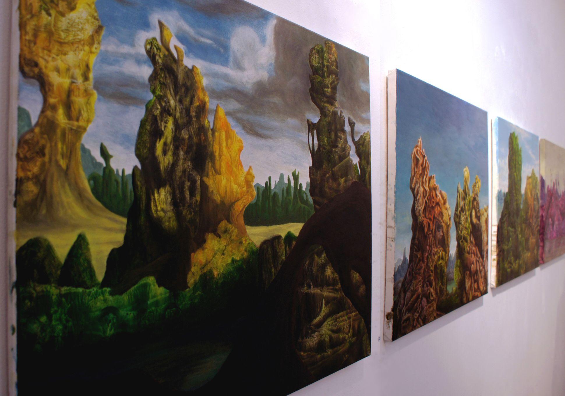 """4x Peter Blohmann, im Vordergrund """"Singara"""" (auch im Traumschläger Kalender 2017)"""
