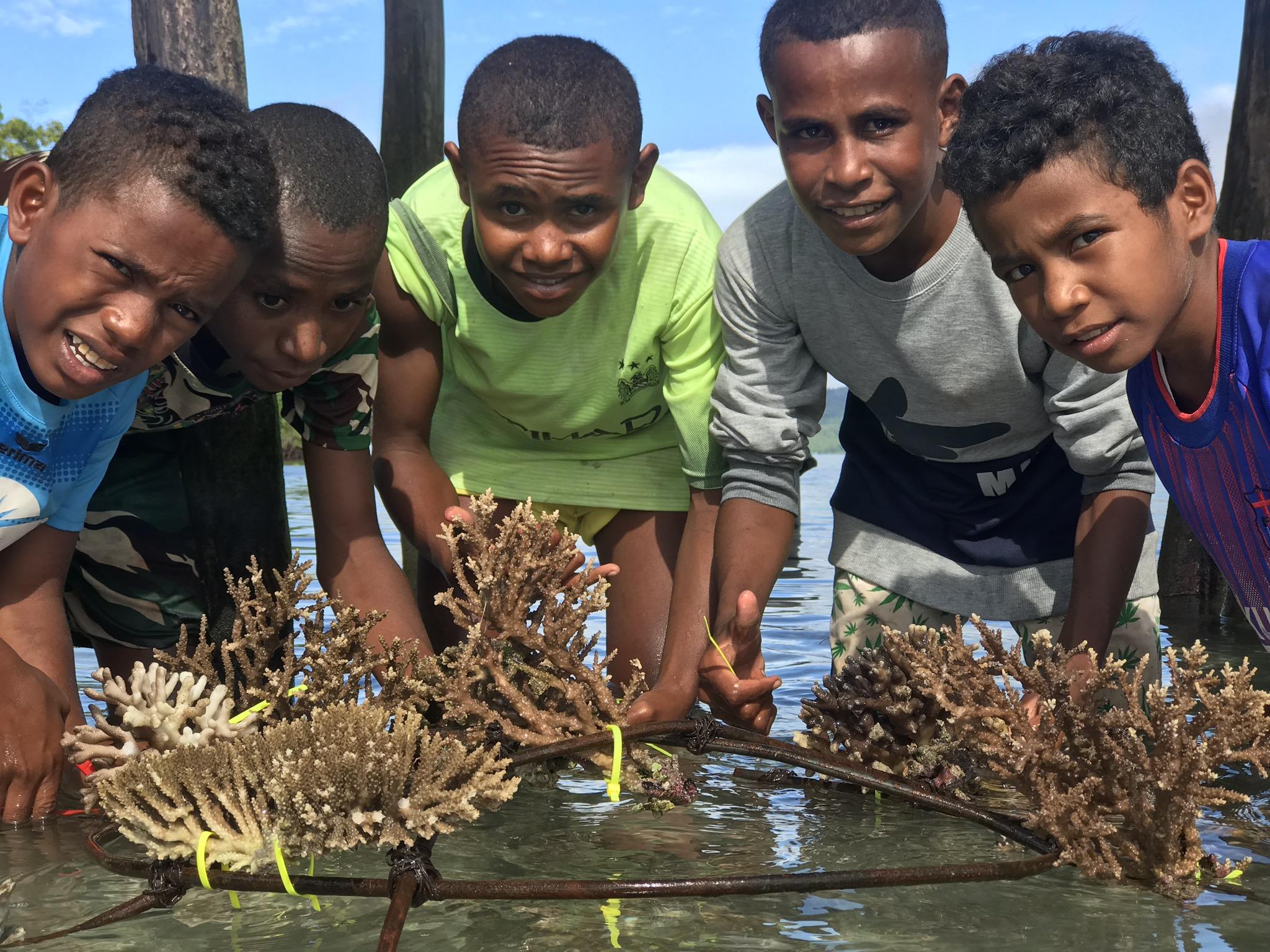 Unsere Schūler bauen ihren eigenen Korallengarten an