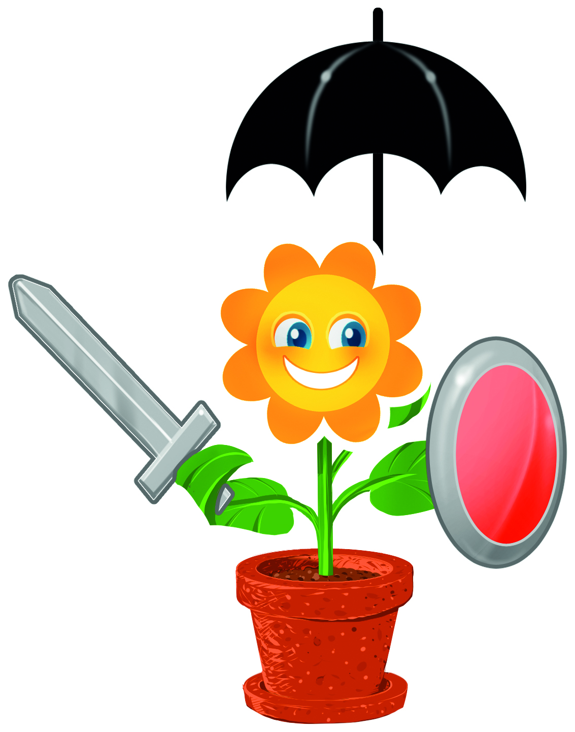 Jede Pflanze in der Natur hat Schutzmechanismen, die ihre Zellen vor Angriffe durch Krankheitserreger schützt.