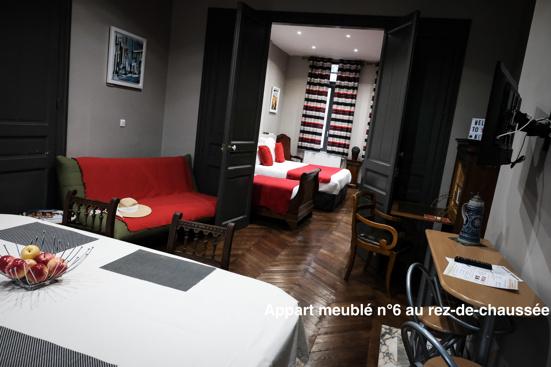 The nest - Appartement meublé au rez-de-chaussée, sans marches, accès direct sur le jardin, appart'hotel en centre-ville d'Amiens avec services hoteliers