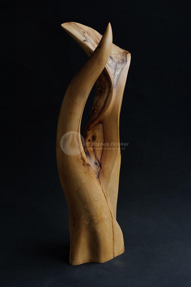Annaeherung, Olivenholz geölt und gewachst, 57 x 23 x 19 cm