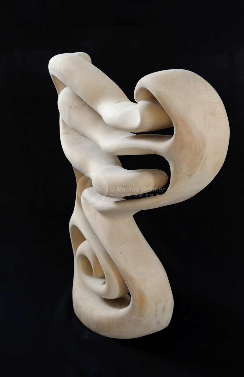 Kundalini rising, Lindenholz gewachst, 65 cm, VERKAUFT