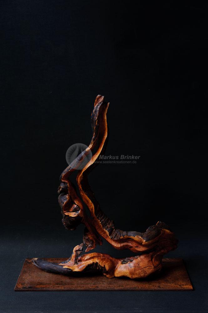 Lava, Erika-Wurzelholz geölt und gewachst, 50 x 44 x 16 cm