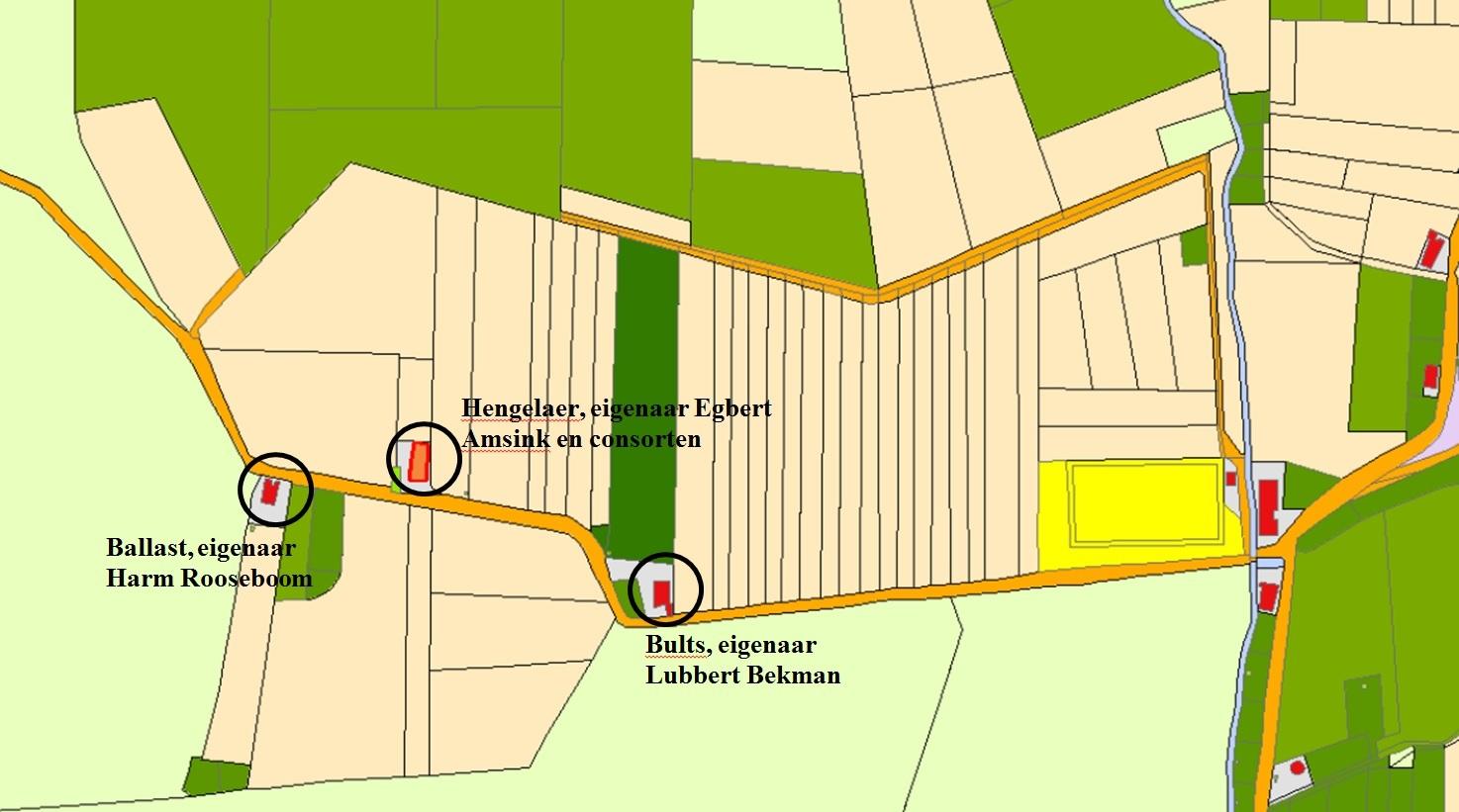 kaartfragment van de Ballast bij Coevorden
