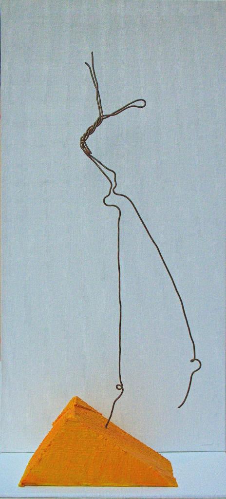 Skulptur , Kunst , Draht , Leinwand , arthaus kempen , Kunst , Künstler , Bauvorgaben , Silvia Heimbucher
