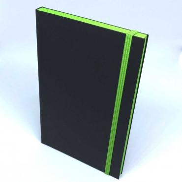 Hoffnungsträger-Notizbuch, grüner Schnitt, mit HTR-Kugelschreiber