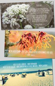 Kartenbox mit 10 Faltkarten u. Umschlägen; Mutmach-Themen I