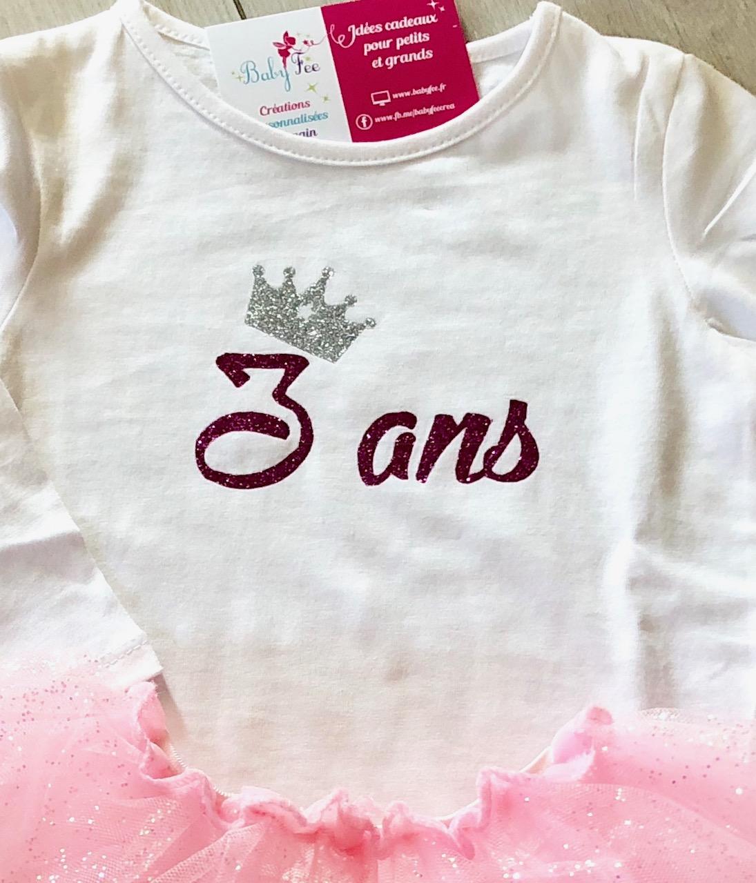 meilleure sélection fb98b 11c21 Tee-shirt bébé - enfant personnalisé fille ou garçon - Baby ...