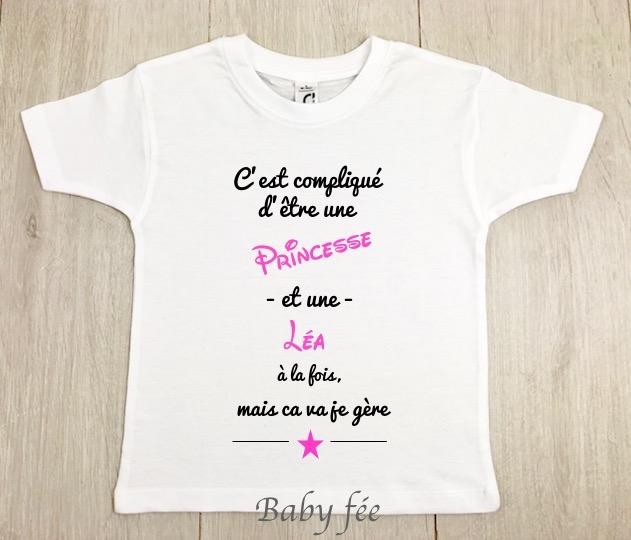 meilleure sélection 55d26 bdb51 Tee-shirt bébé - enfant personnalisé fille ou garçon - Baby ...