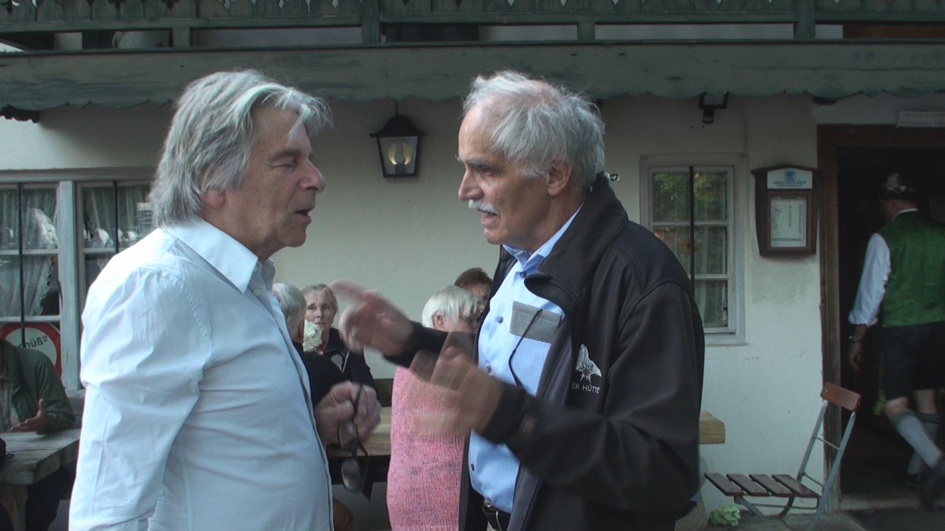 Prof. Florian Kolb im Gespräch mit Bichlmeier