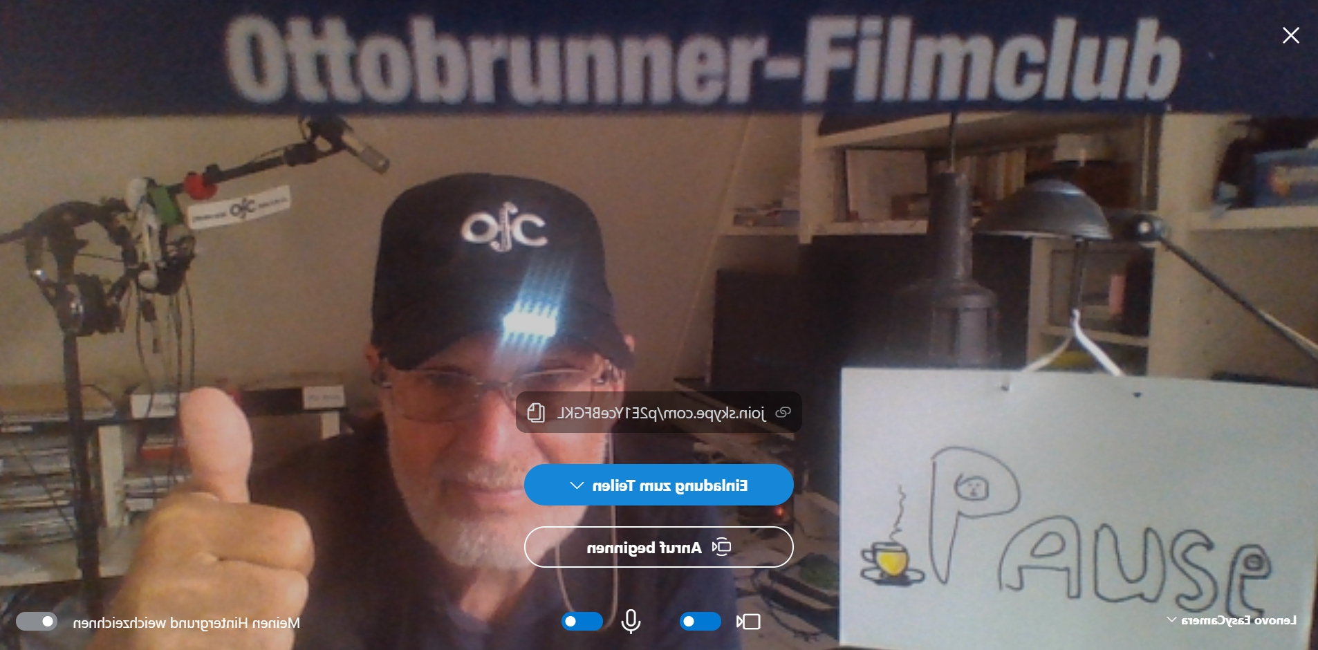 Capy Einsatz beim Video Chat (21. April 2020)