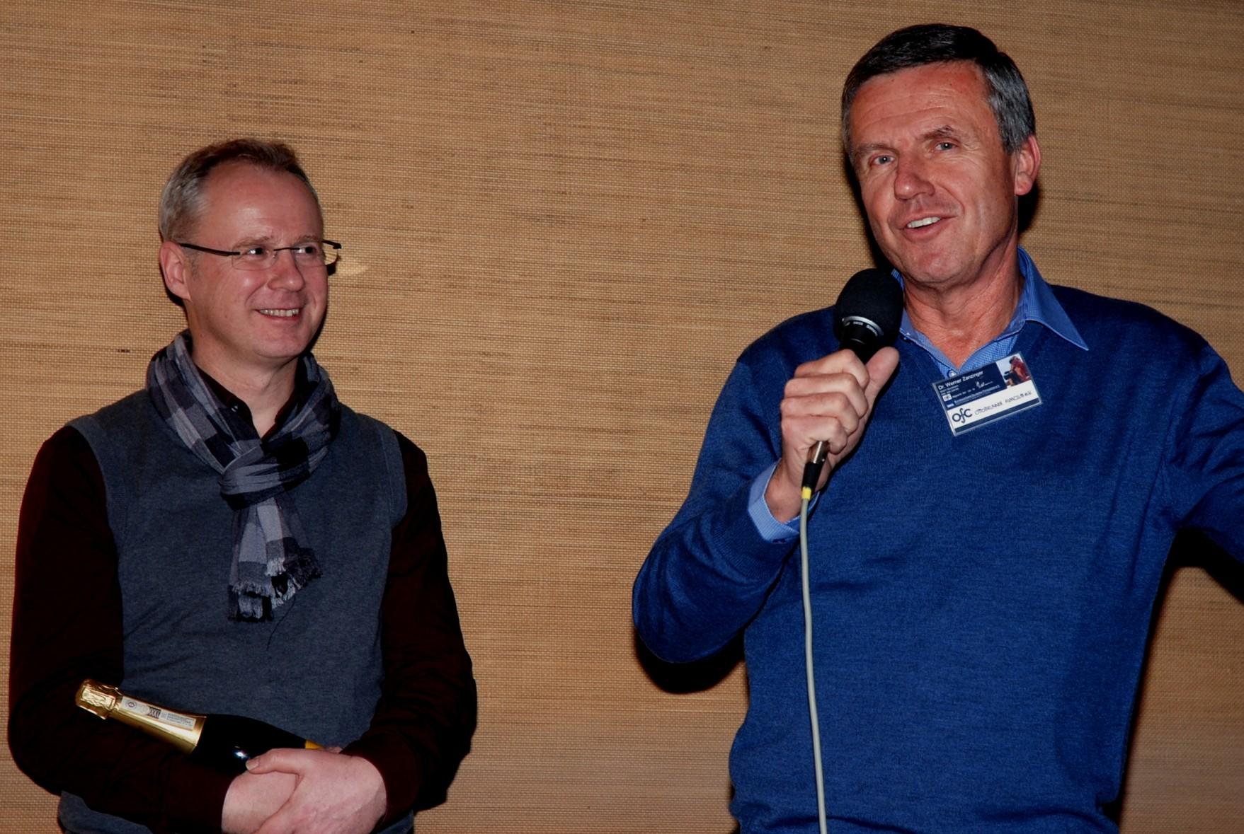 Werner spricht über die Entstehung seines Films und bedankt sich für den Oscar.