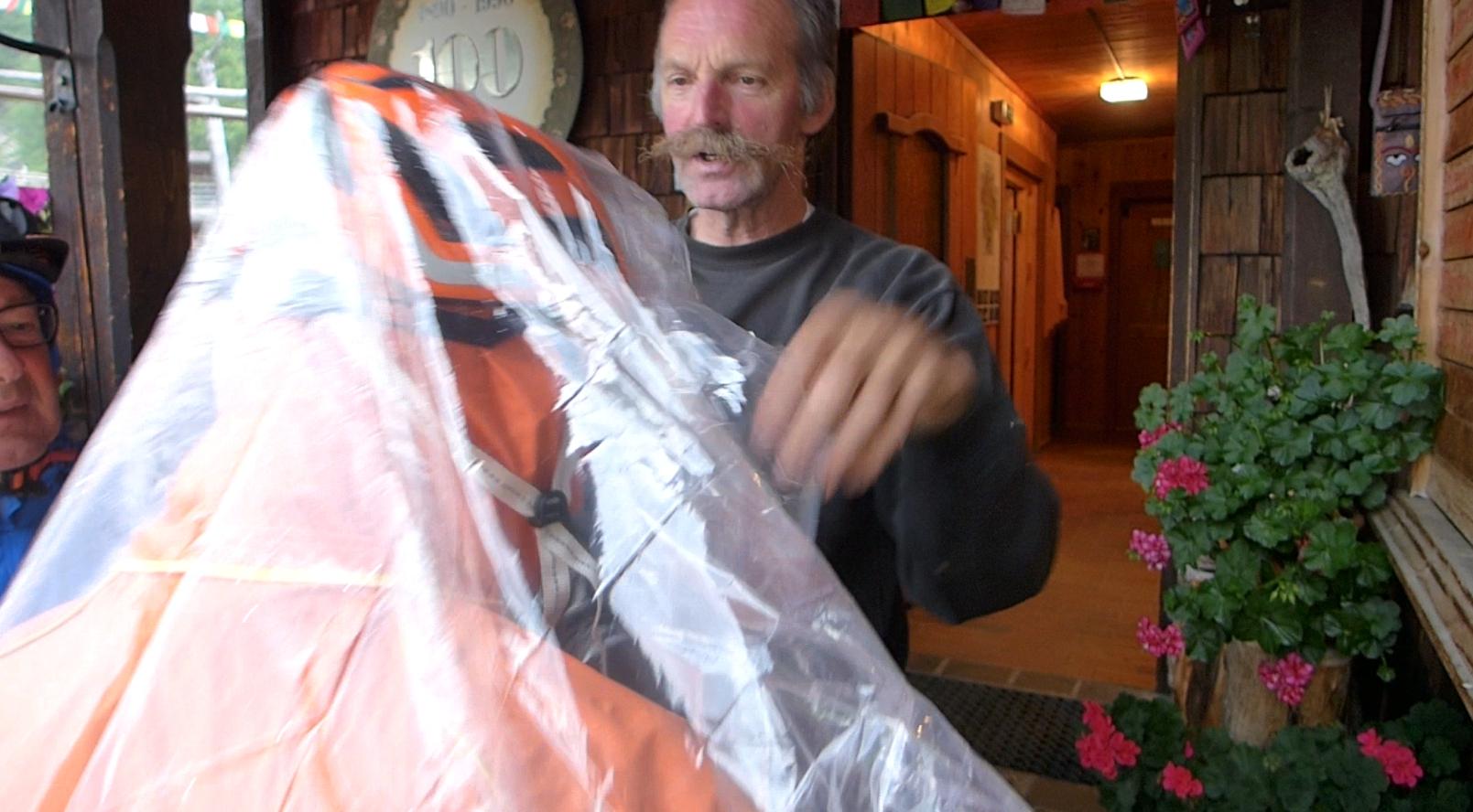 Gewitterregen auf der Lienzer Hütte