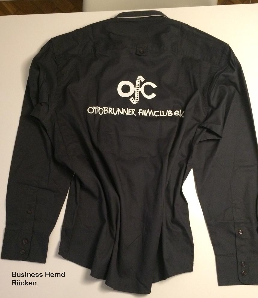 Business Hemd mit OfC Logo (2) auf dem Rücken