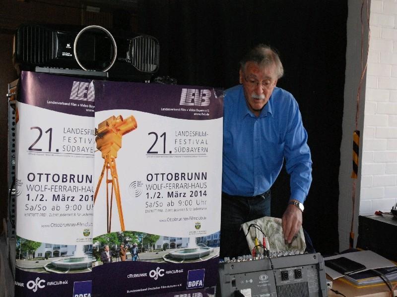 Andreas Schütt, Ottobrunner Filmclub, Filmprojektion